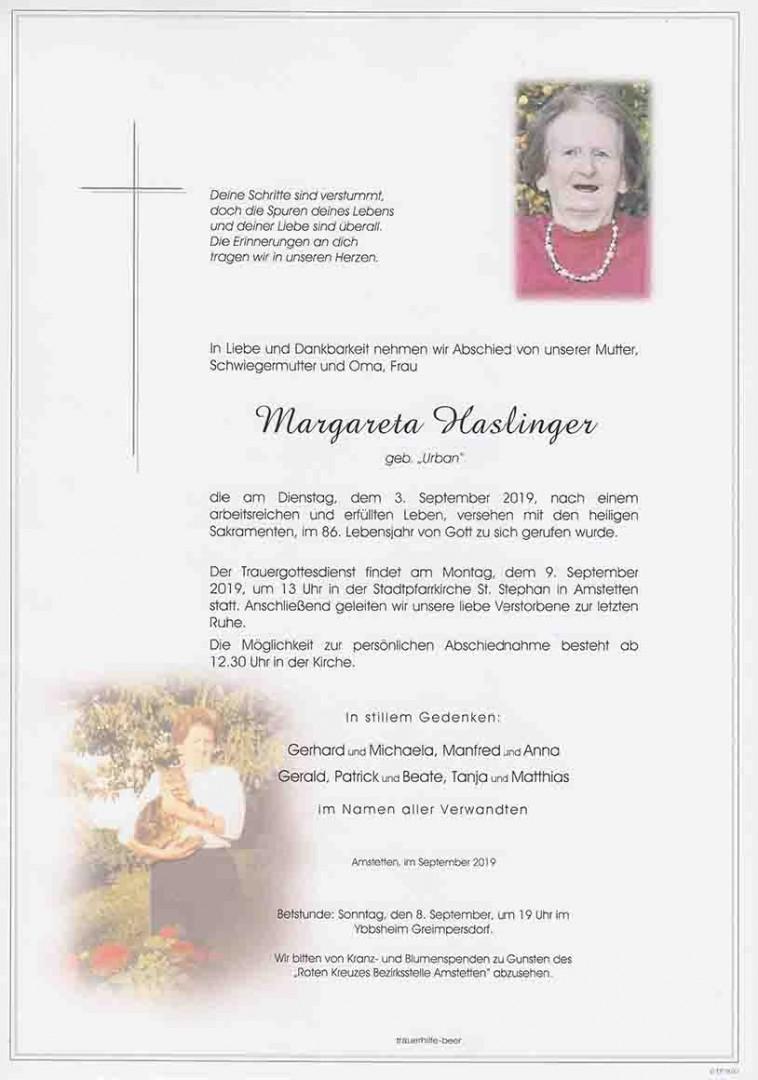 Parte Margareta Haslinger