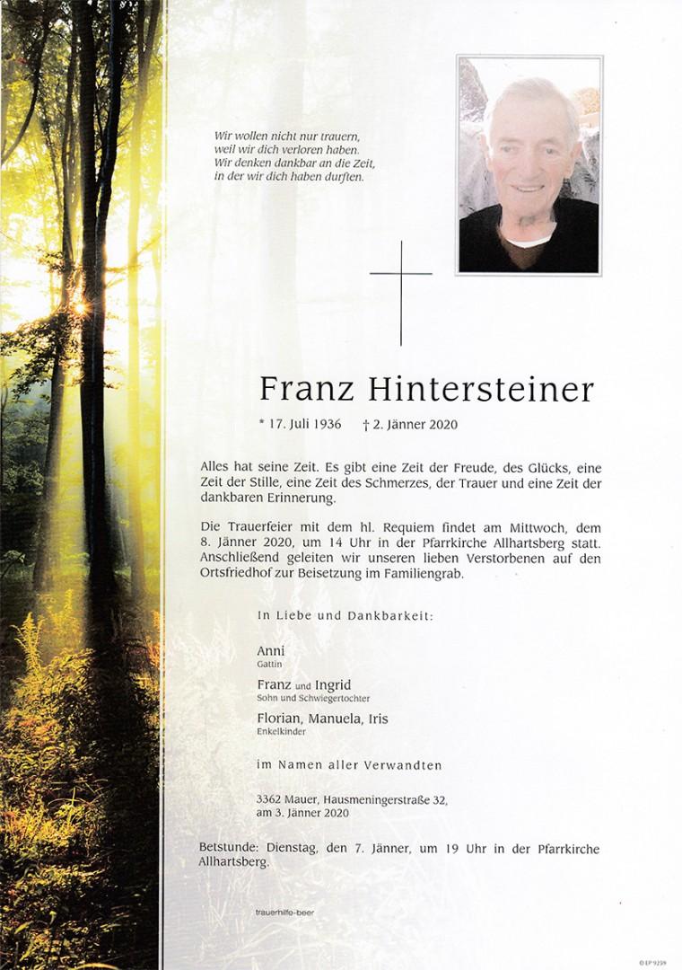 Parte Franz Hintersteiner