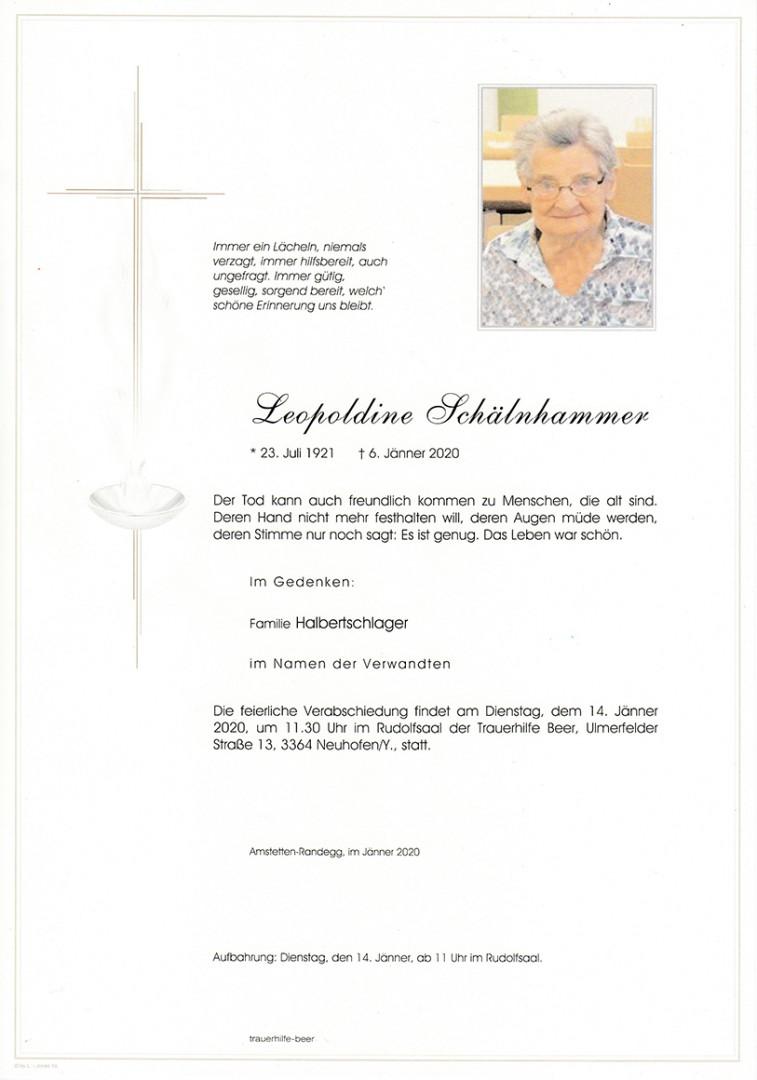 Parte Leopoldine Schälnhammer