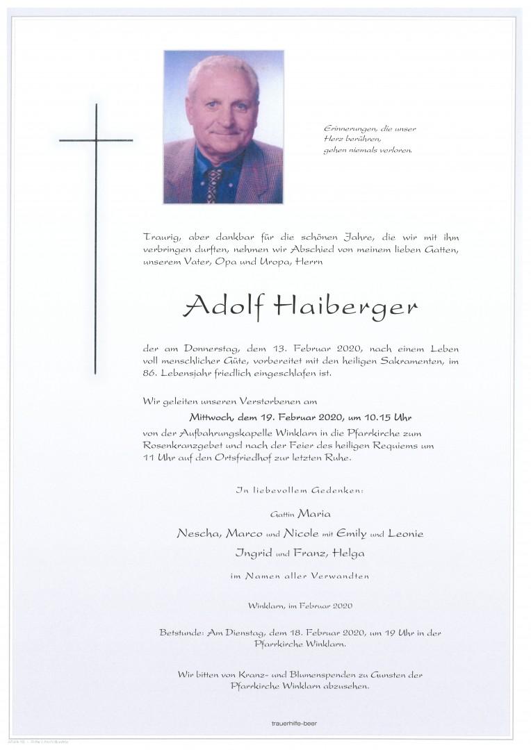 Parte Adolf Haiberger