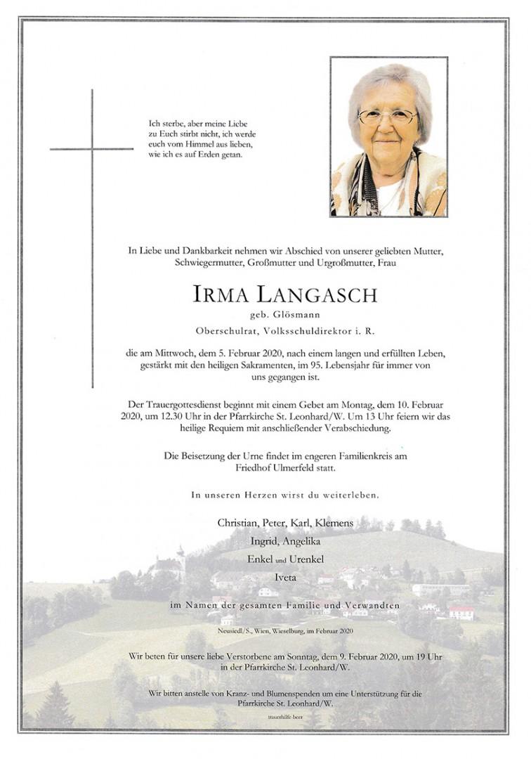 Parte Irma Langasch