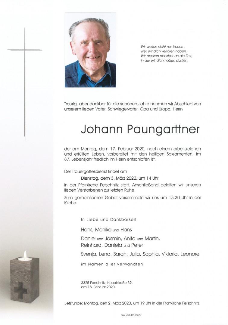 Parte Johann Paungarttner