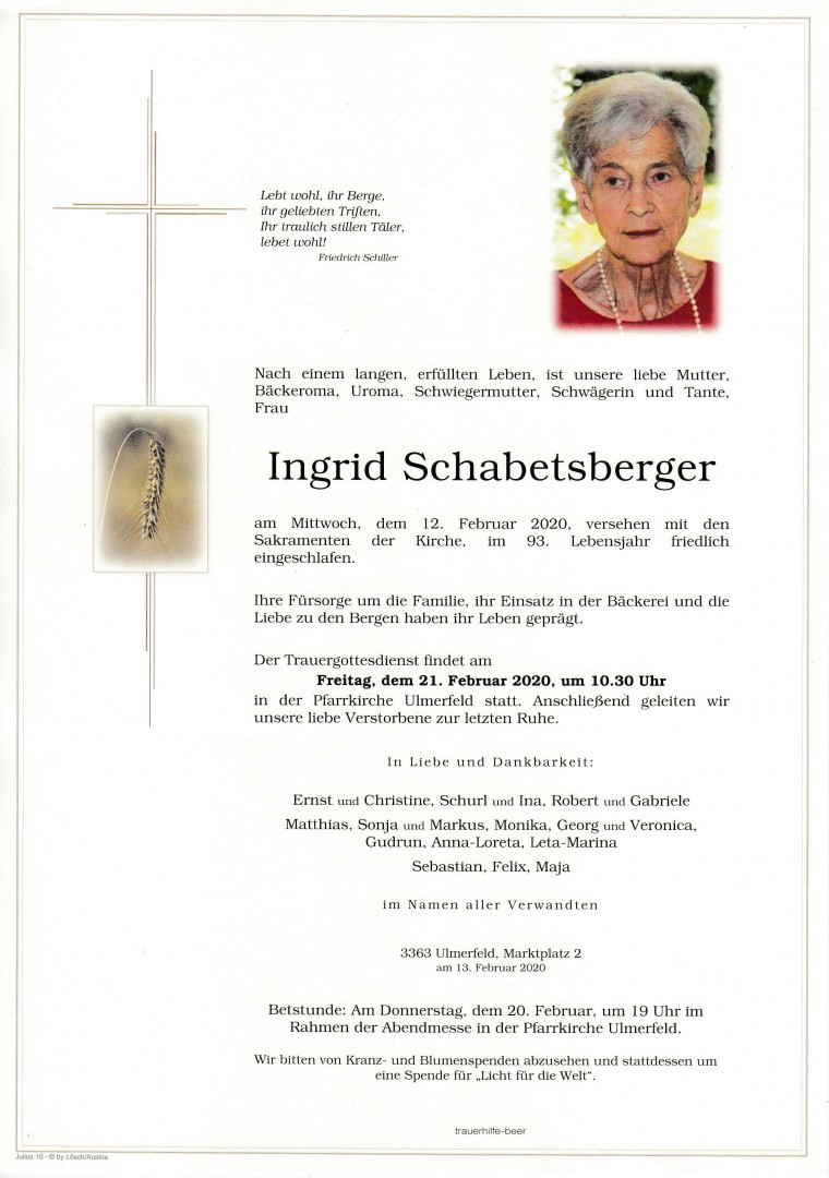 Parte Ingrid Schabetsberger