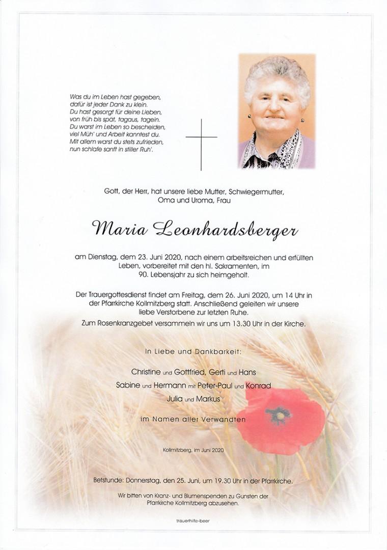 Parte Maria Leonhardsberger