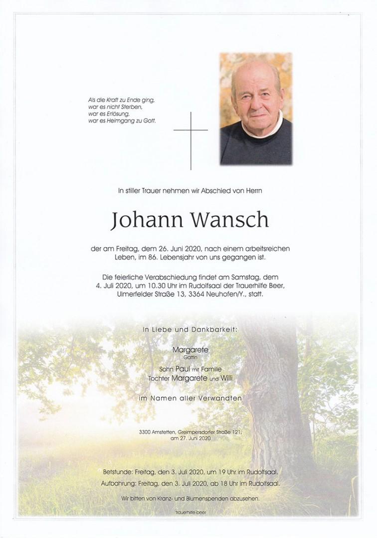 Parte Johann Wansch