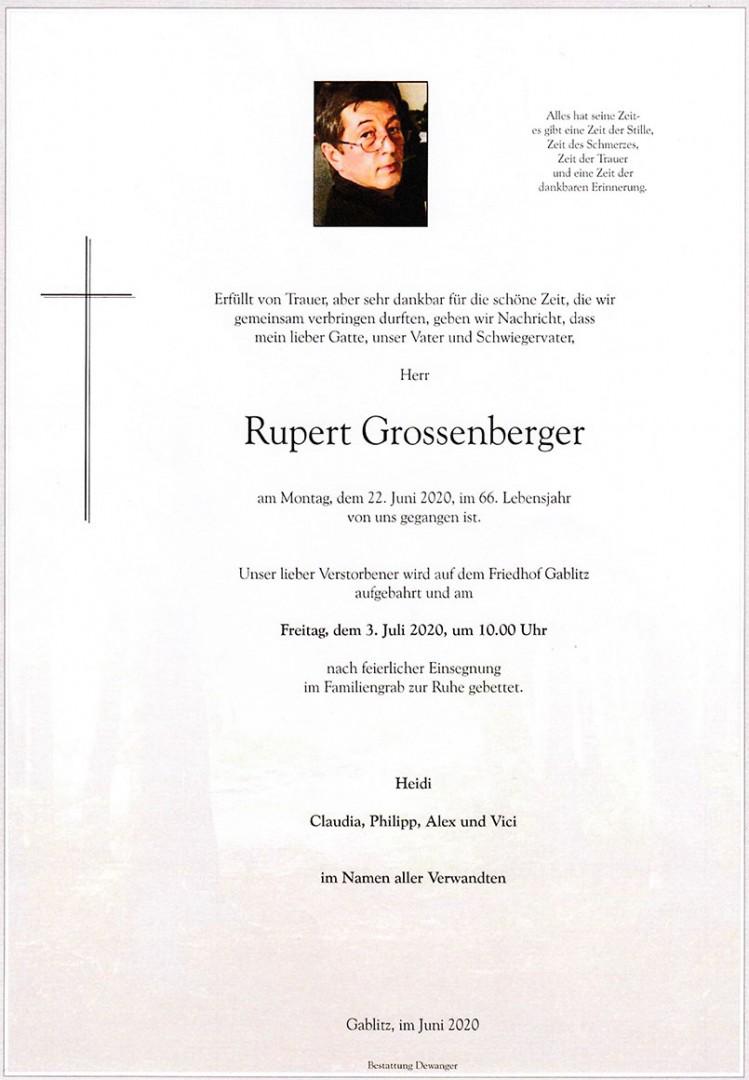 Parte Rupert Grossenberger
