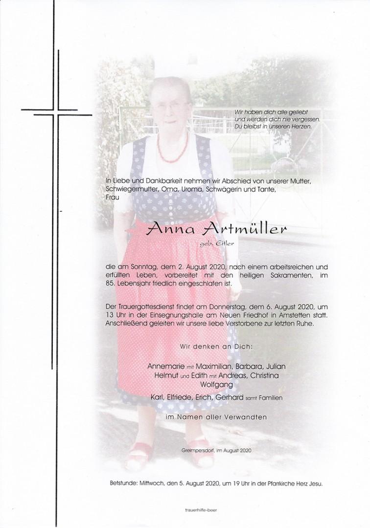 Parte Anna Artmüller