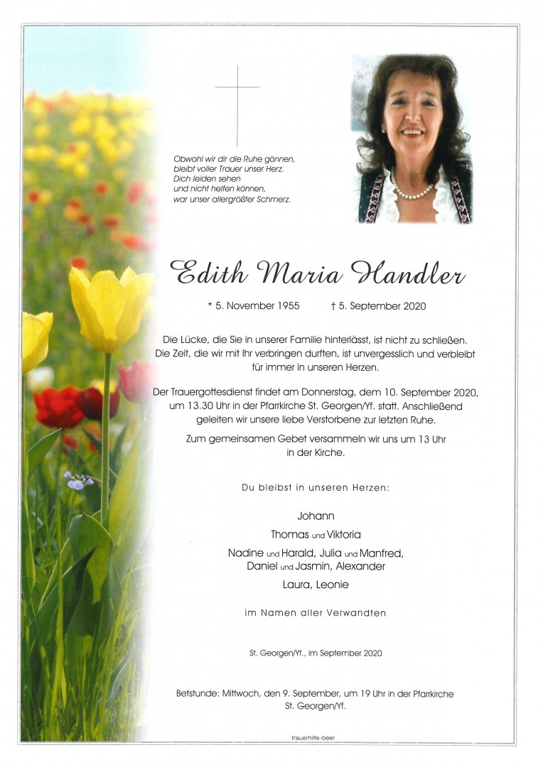 Parte Edith Maria Handler