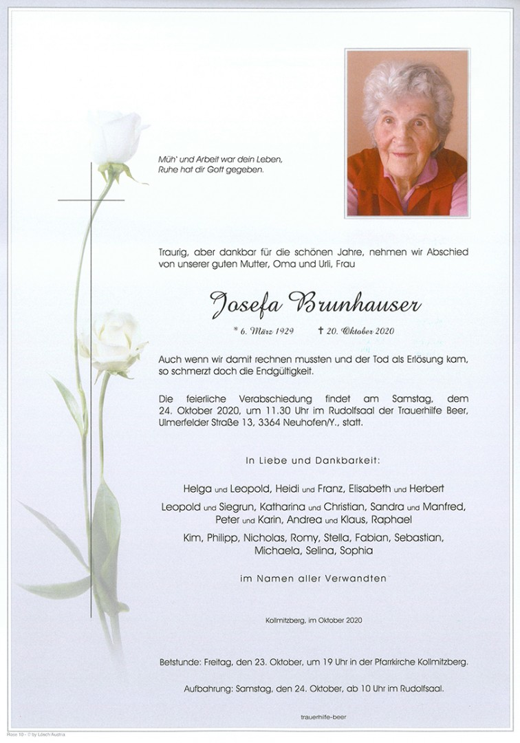 Parte Josefa Brunhauser