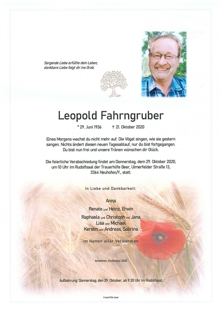 Parte Leopold Fahrngruber