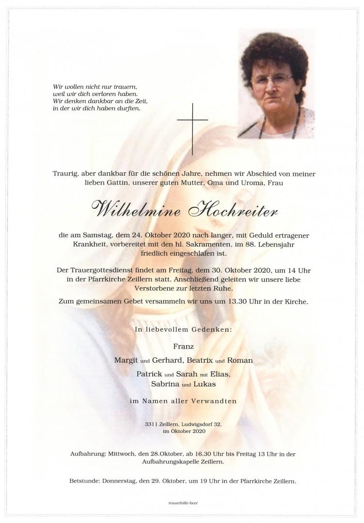 Parte Wilhelmine Hochreiter