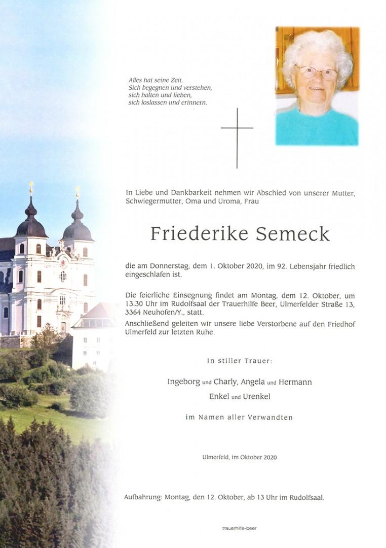 Parte Friederike Semeck