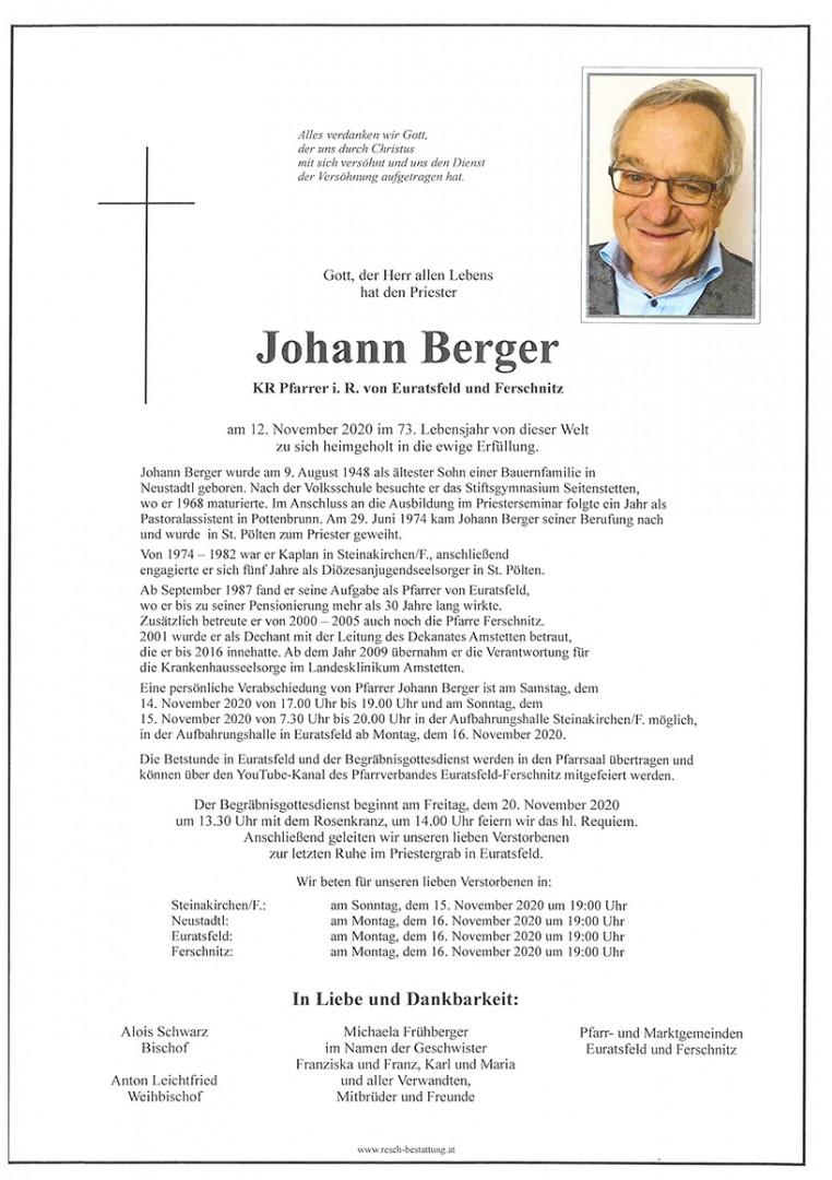 Parte KR Pfarrer Johann Berger