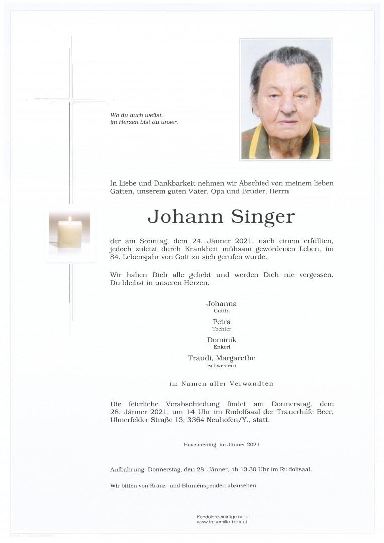 Parte Johann Singer