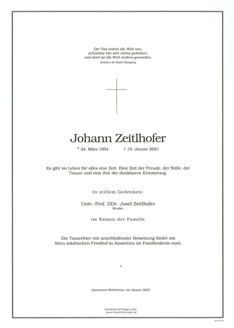 Parte Johann Zeitlhofer