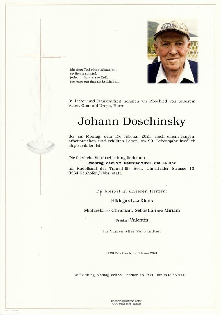 Parte Johann Doschinsky