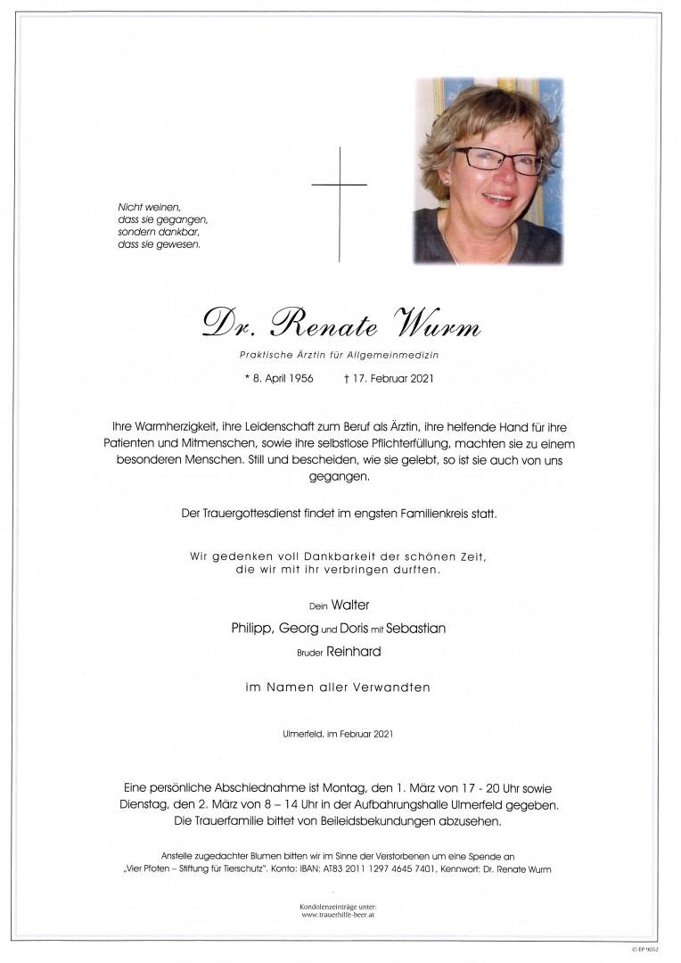 Parte Dr. Renate Wurm