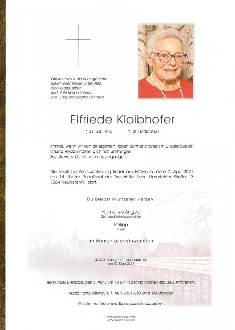 Parte Elfriede Kloibhofer