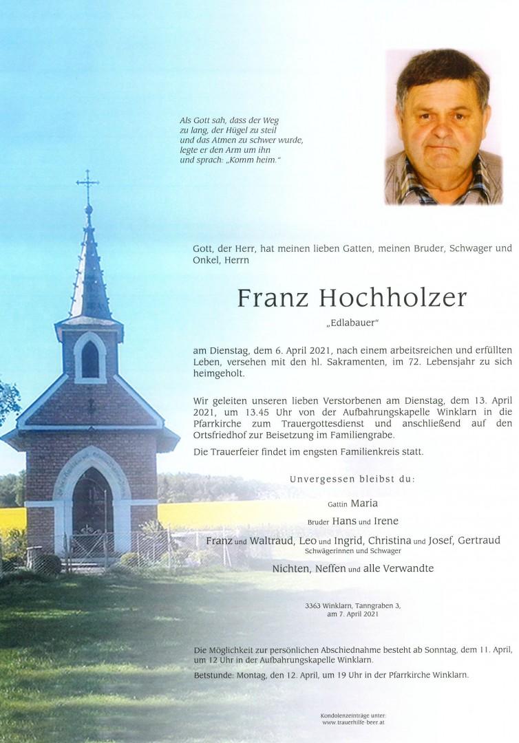 Parte Franz Hochholzer