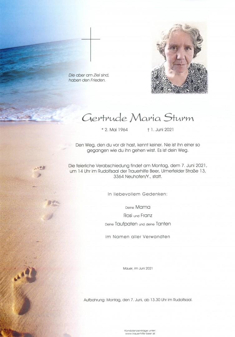 Parte Gertrude Maria Sturm