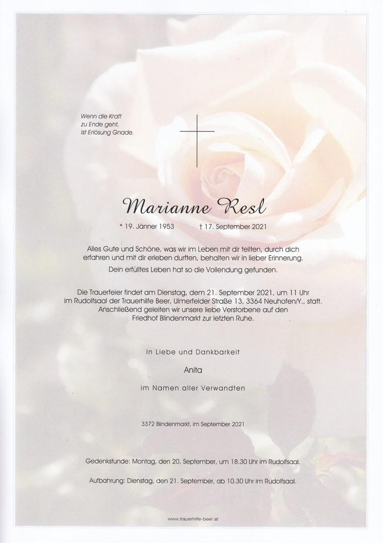 Parte Marianne Resl