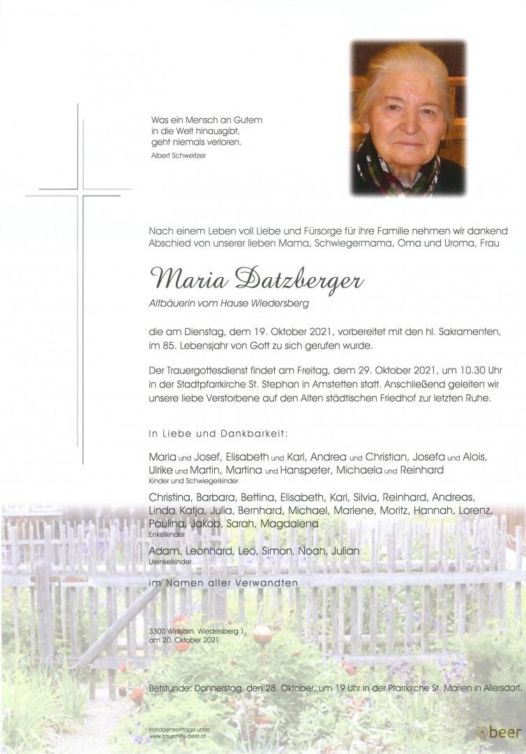 Parte Maria Datzberger