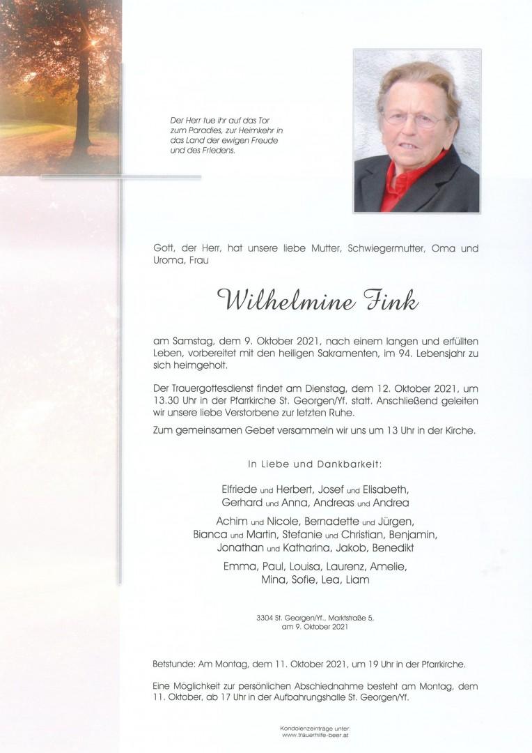 Parte Wilhelmine Fink