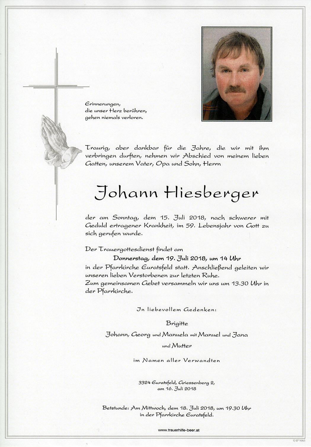 Parte Johann Hiesberger
