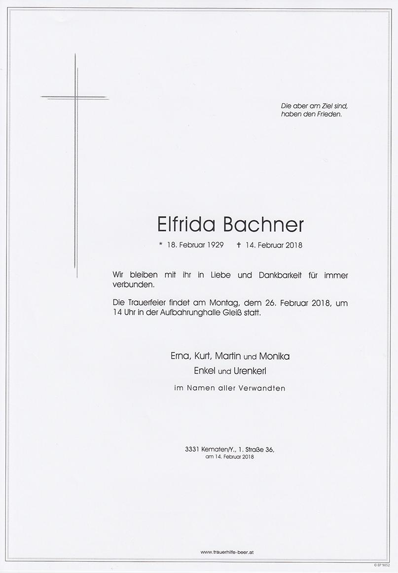 Elfrida Bachner
