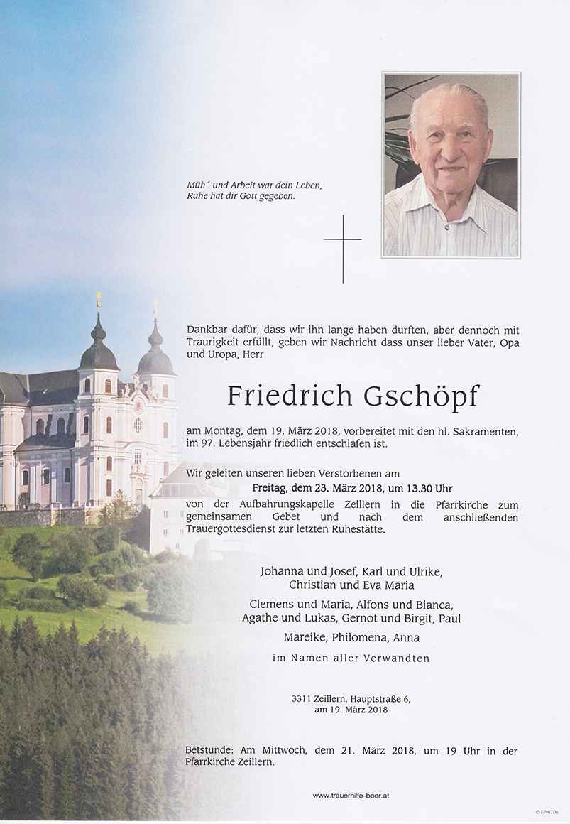 Friedrich Gschöpf