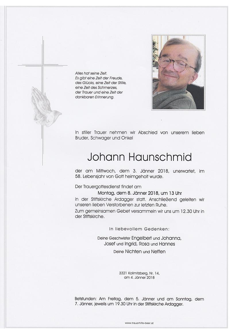 Johann Haunschmid