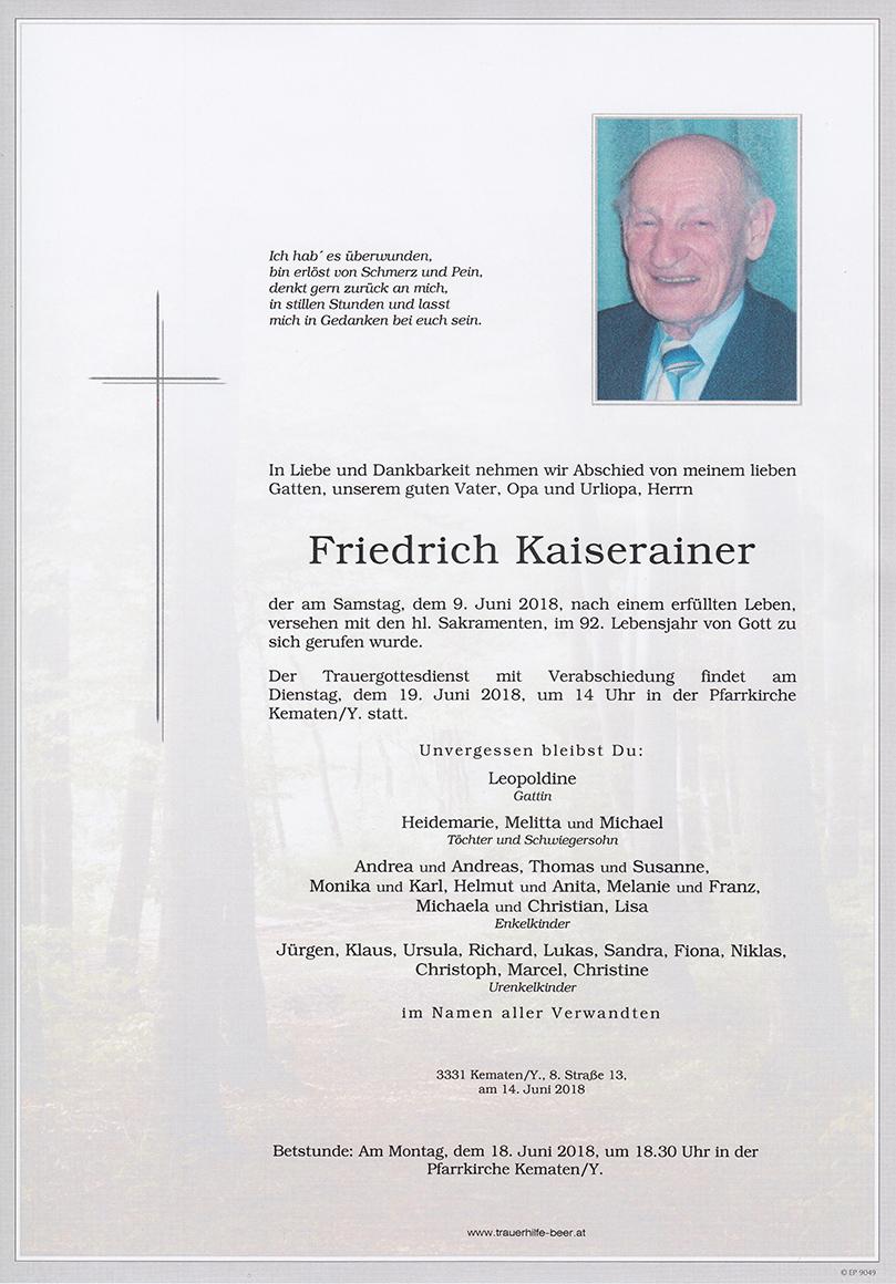 Friedrich Kaiserainer