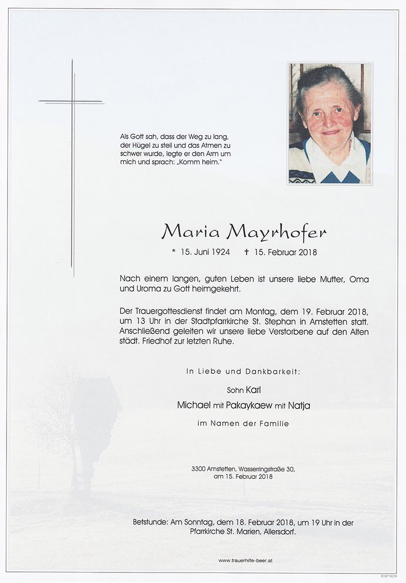 Maria Mayrhofer