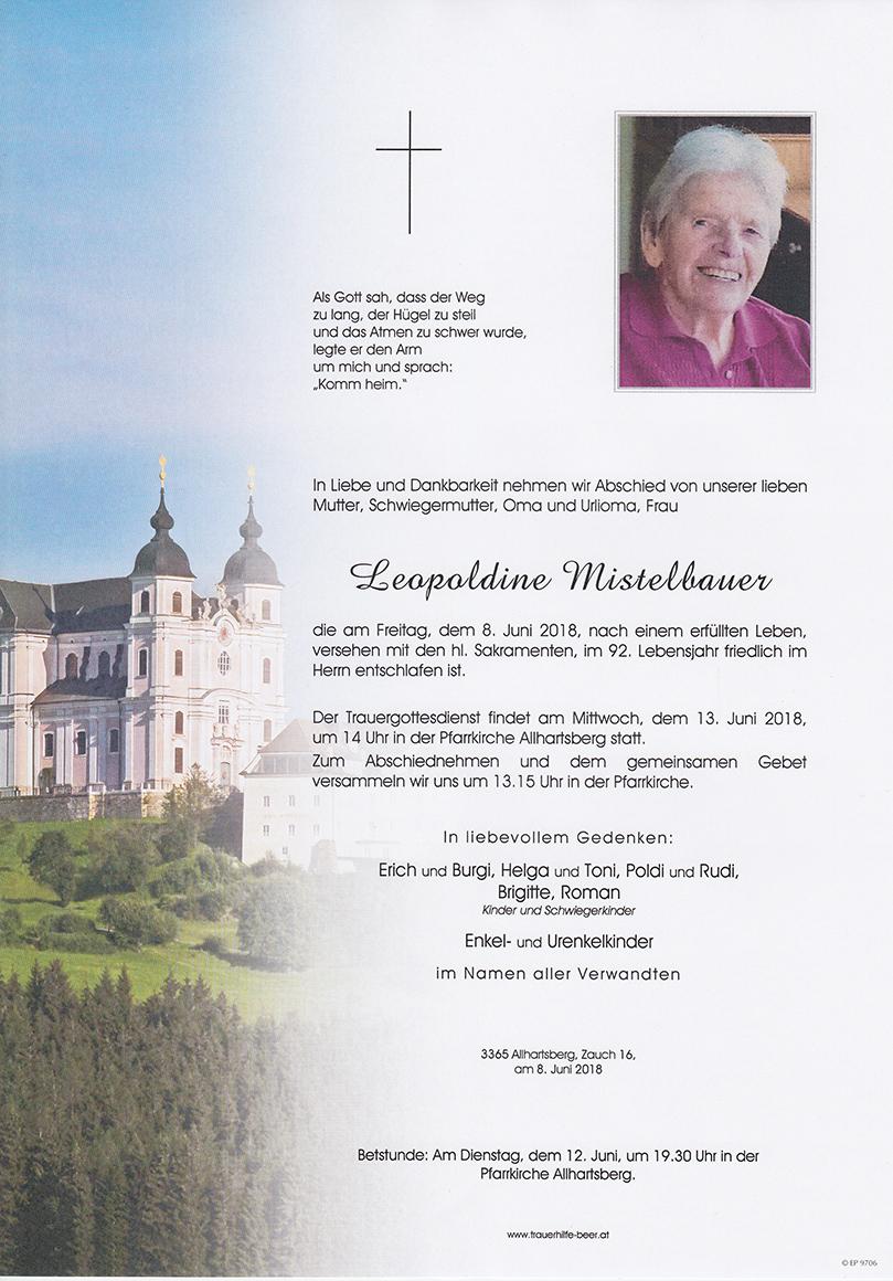 Leopoldine Mistelbauer