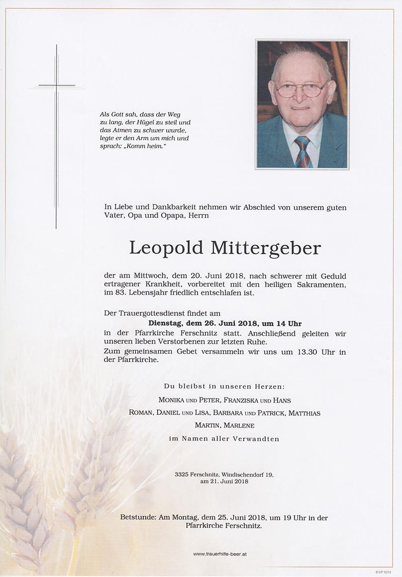 Leopold Mittergeber