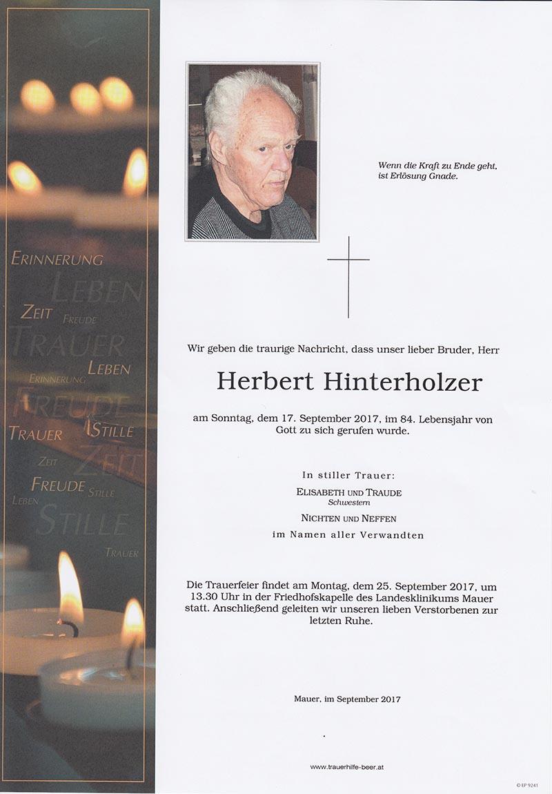 Herbert Hinterholzer