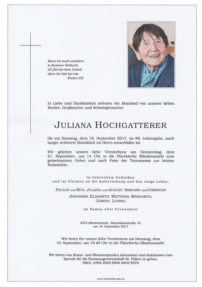 Juliana Hochgatterer