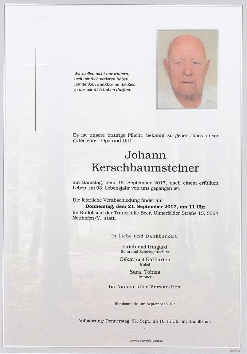 Johann Kerschbaumsteiner