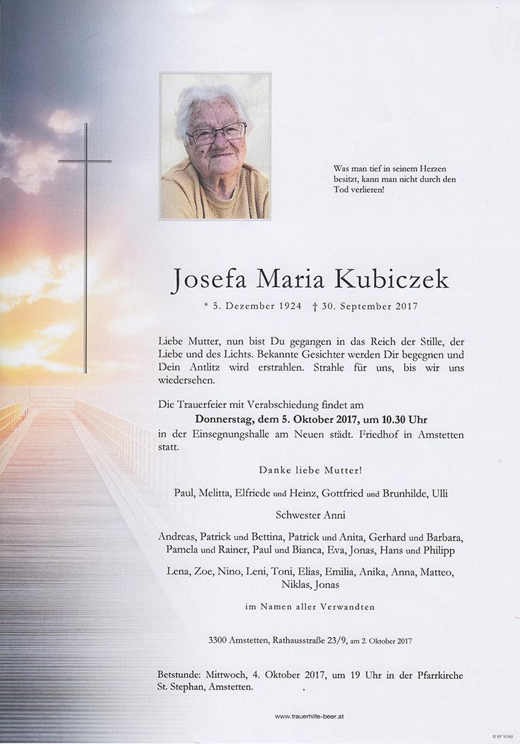 Josefa Maria Kubiczek