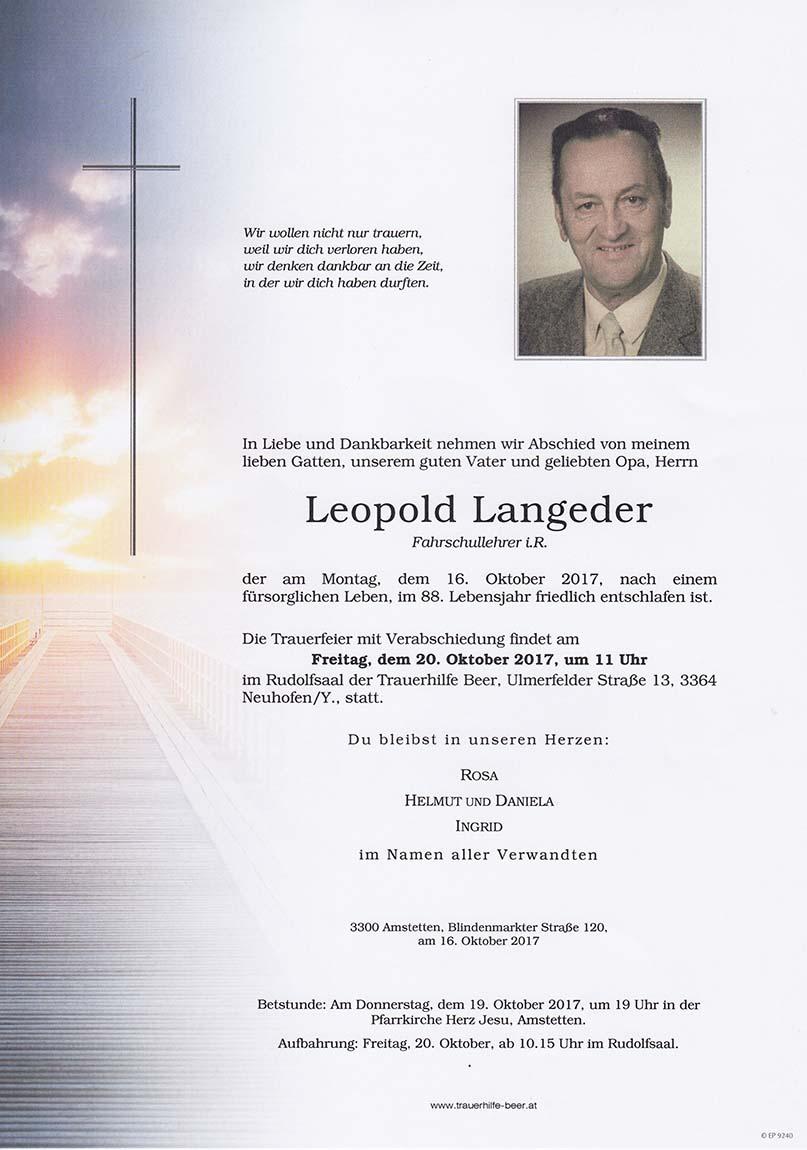 Leopold Langeder