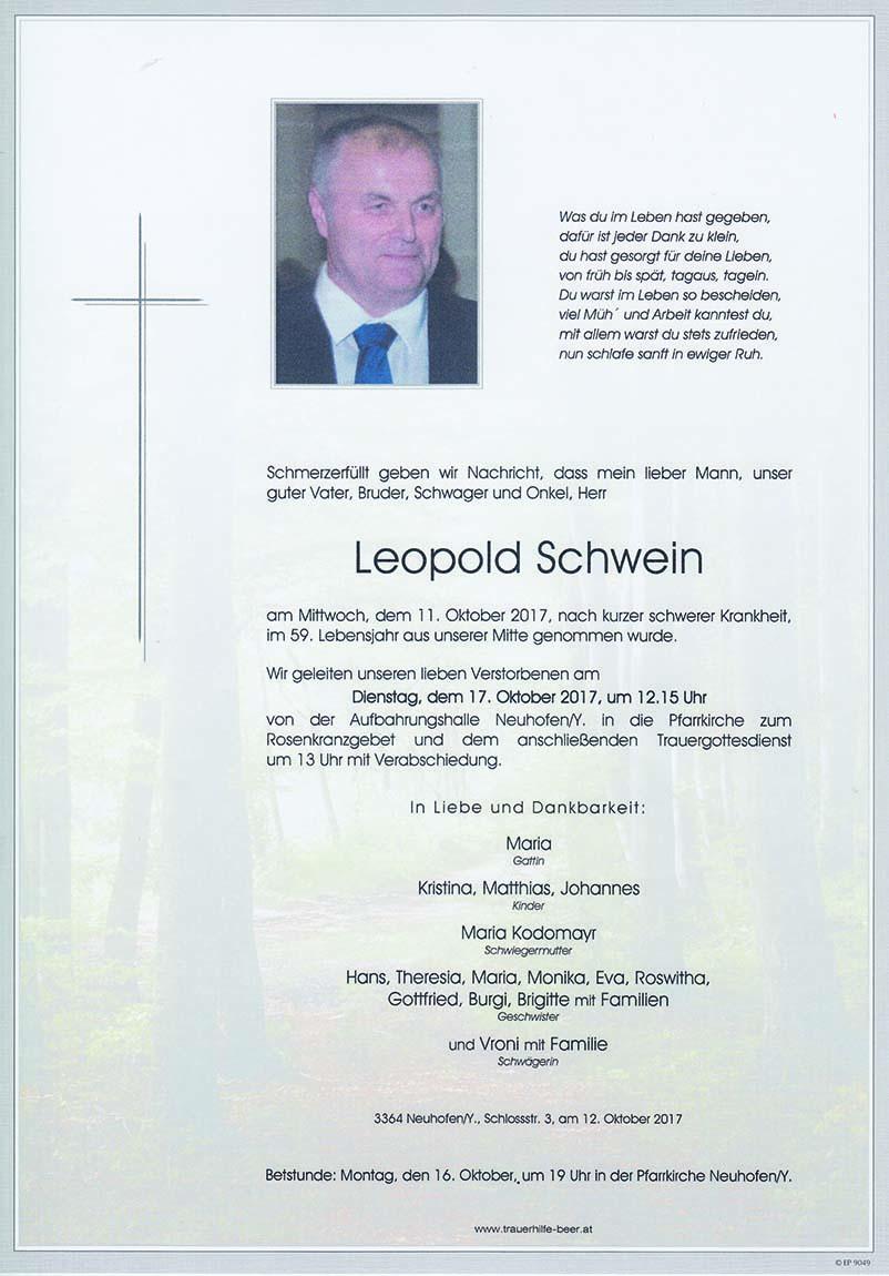 Leopold Schwein