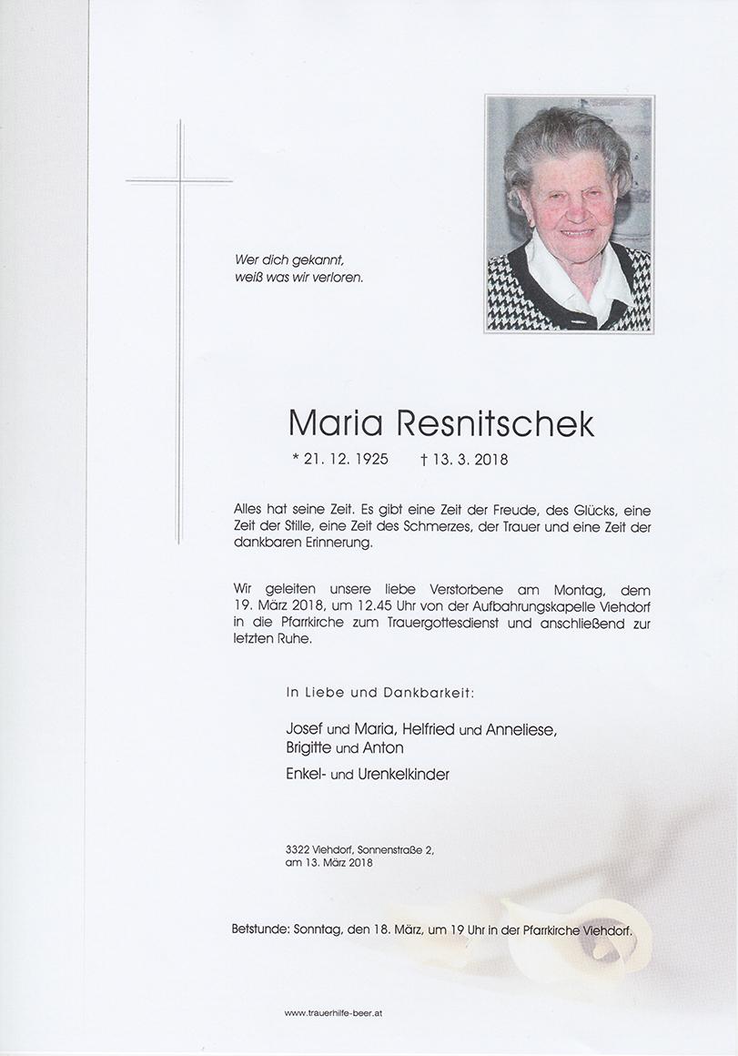 Maria Resnitschek