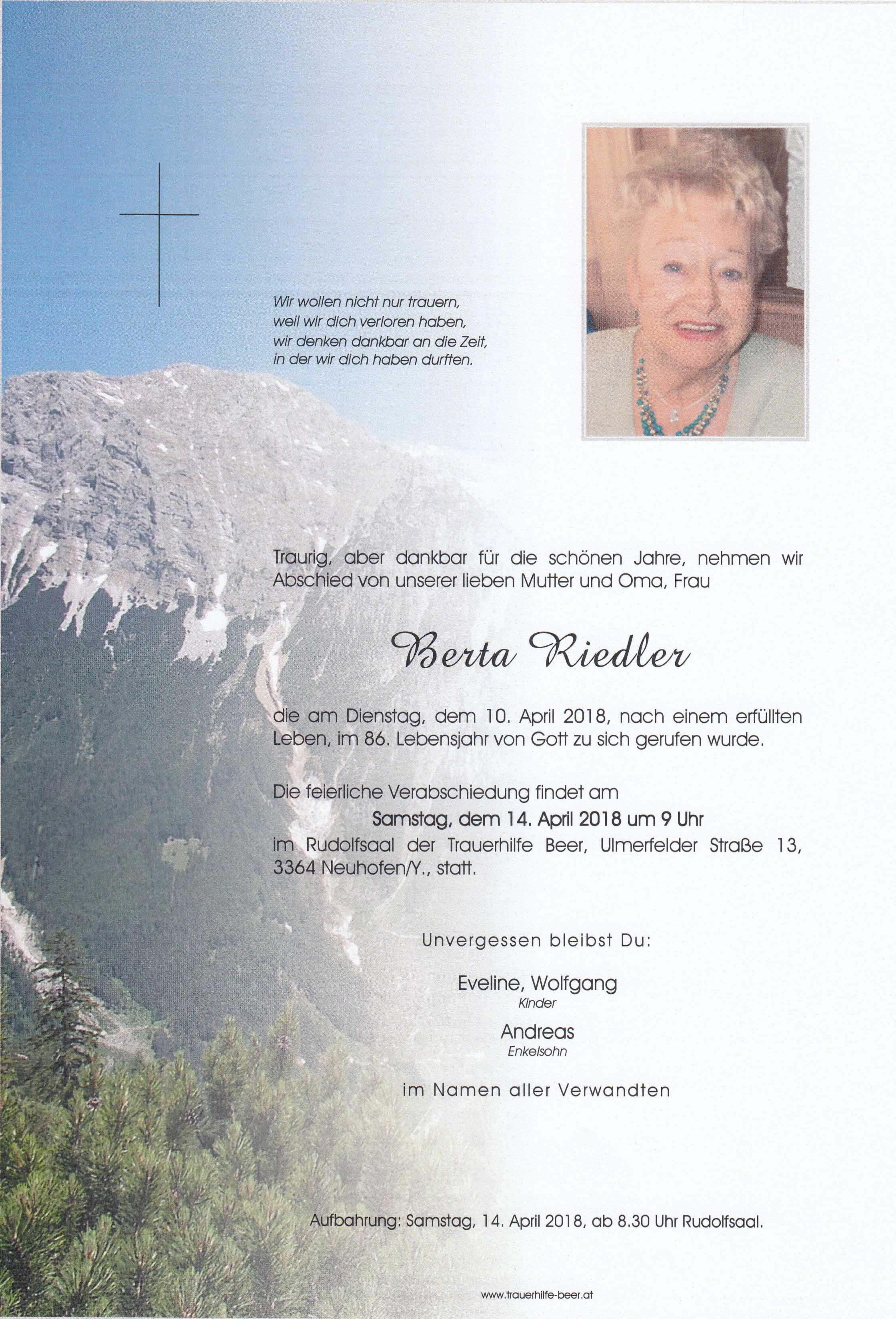 Berta Riedler