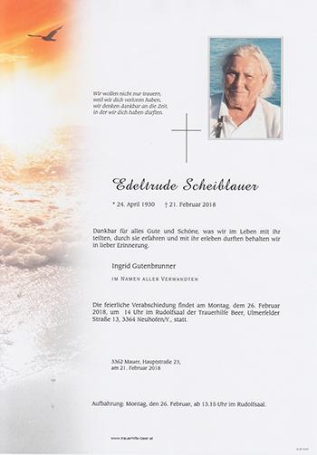 Edeltrude Scheiblauer