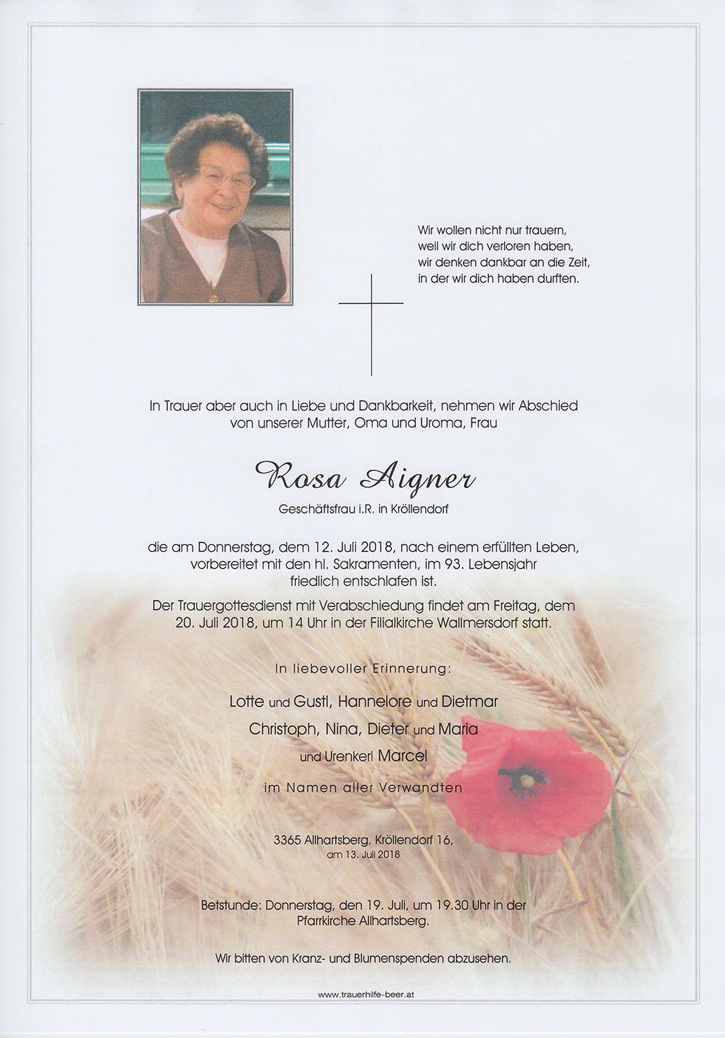 Rosa Aigner