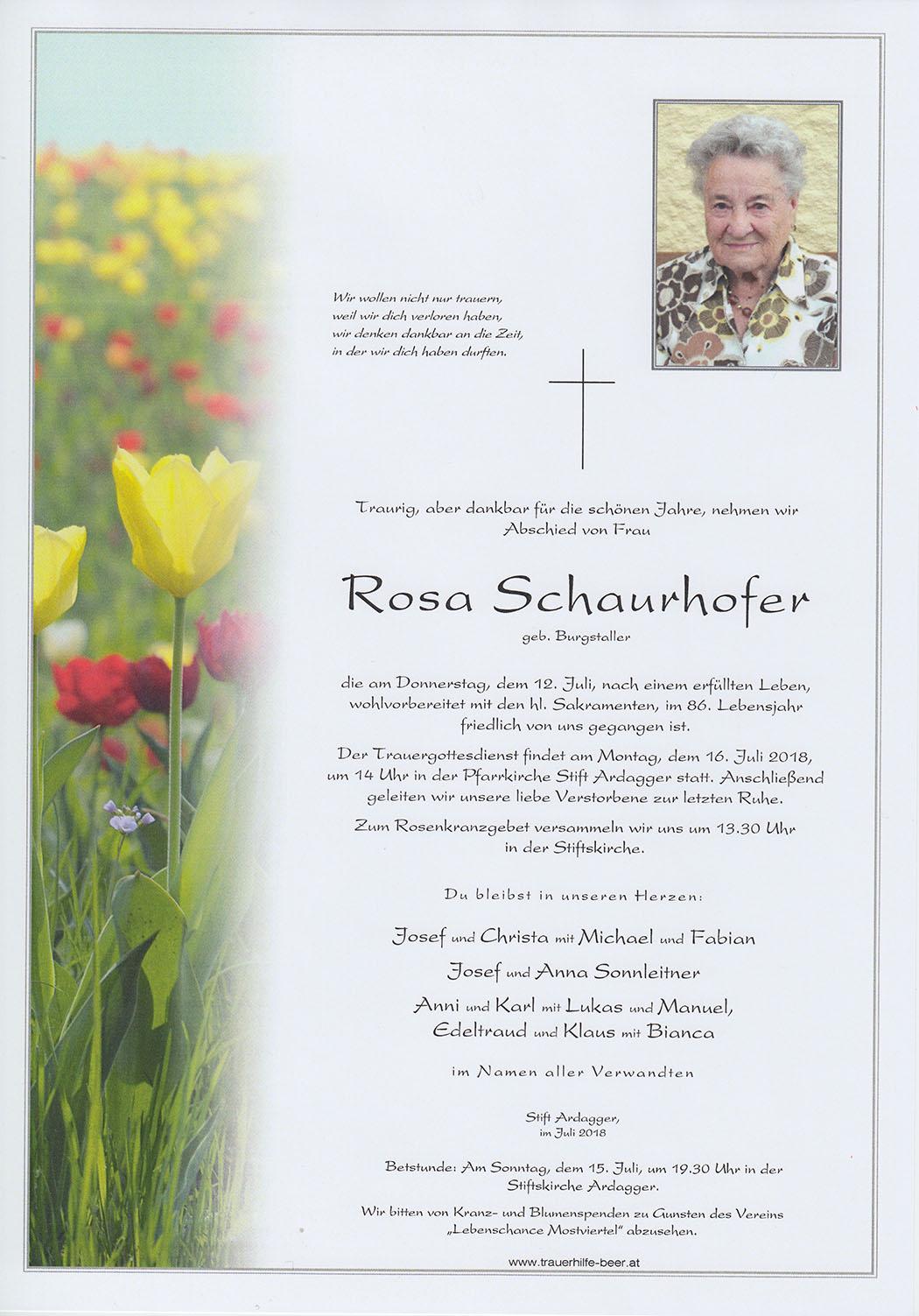 Rosa Schaurhofer